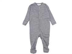 Joha nightsuit light gray melange wool