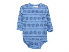 Joha body blue snowflake wool