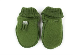 Joha mittens bottle green wool