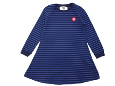 Wood Wood dress Aya navy/blue stripes