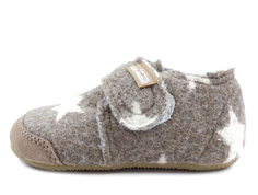 Living Kitzbühel slippers fossil wool with stars