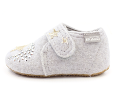 Living Kitzbühel slippers hellgrau wool with unicorn
