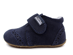 Living Kitzbühel slippers nachblau suede with wool lining