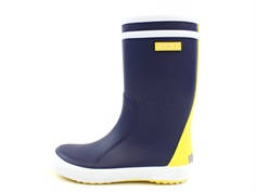 Aigle Lolly Pop col rubber boot indigo jaune blanc