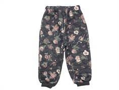 Wheat thermal trousers Alex charcoal flower