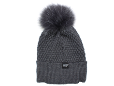 MP Chunky Oslo hat dark gray with fur tassel wool