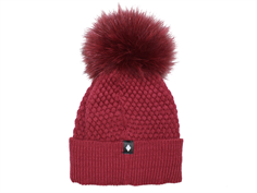 MP Oslo hat dark red with fur tassel