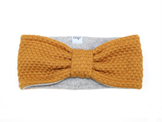 MP Oslo headband dark honey wool/fleece
