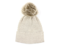 MP hat Chunky Oslo sand faux fur pom pom
