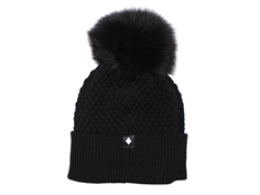 MP Oslo hat black with fur tassel