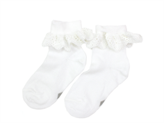 MP socks cotton lace white