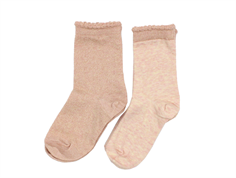 MP socks cotton peached glitter (2-Pack)
