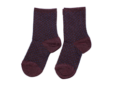 MP socks purple dots glitter (2-pack)