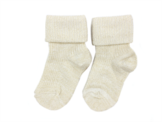 MP socks viscose off white glitter (2-Pack)