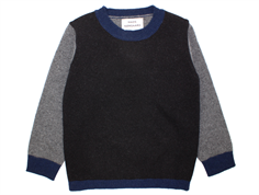 Mads Nørgaard Kennyno sweater wool black/charcoal/navy