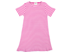 Mads Nørgaard Darling dress stripes deep pink/white