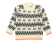 Mads Nørgaard knit sweater ecru/dark brown wool
