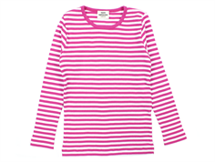 Mads Nørgaard Talino t-shirt stripes deep pink/white