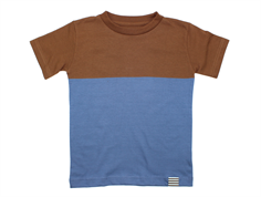 Mads Nørgaard Toldino t-shirt Patridge brown/denim