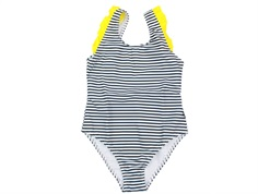 Mads Nørgaard swimsuit Salinga black white yellow