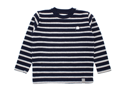 Mads Nørgaard sweater Kaptina navy/gray melange wool/cotton