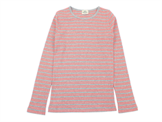 Mads Nørgaard t-shirt Talino gray/neon coral