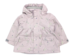 Mini A Ture Charlene raincoat violet ice birds fleece lining
