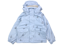 Mini A Ture Julien raincoat ashley blue anchor fleece lining