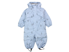 Mini A Ture Reinis rain suit ashley blue anchor fleece lining