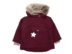 Mini A Ture winter jacket Wang Fur winetasting plum