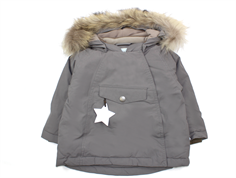 Mini A Ture Wang Fur winter jacket steel gray