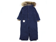 Mini A Ture Wanni snowsuit fur peacoat blue