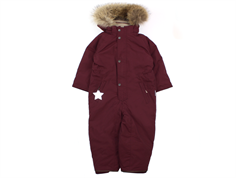 Mini A Ture Wanni snowsuit fur winetasting plum