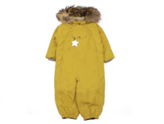Mini A Ture snowsuit Wisti fur dried tobacco