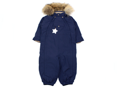 Mini A Ture snowsuit Wisti fur peacoat blue