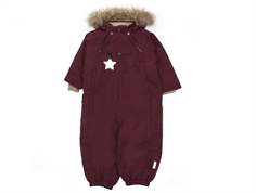 Mini A Ture snowsuit Wisti fur winetasting plum