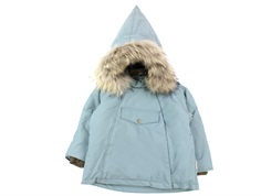 Mini A Ture winter jacket Wang Fur trooper blue