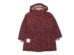 Mini A Ture winter jacket Wera winetasting plum flower
