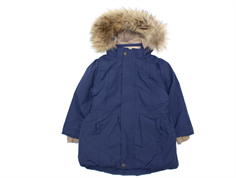 Mini A Ture winter coat Viola Fur peacoat blue
