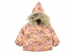 Mini A Ture winter jacket Wang Fur pale mauve flowers