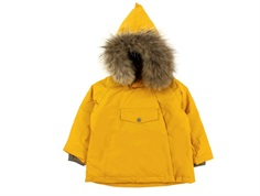 Mini A Ture winter jacket Wang Fur buckthorn brown