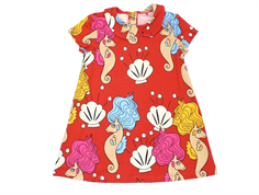 Mini Rodini dress seahorse red