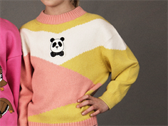 Mini Rodini knit blouse panda pink
