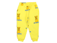 Mini Rodini sweatpants yellow cat campus