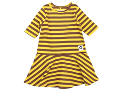 Mini Rodini Dance dress stripe rib yellow