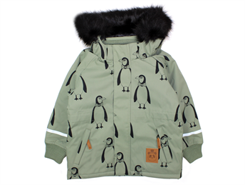 a243c9dd1 Buy Mini Rodini Parka winter jacket penguin green at MilkyWalk