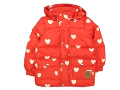Mini Rodini winter jacket Puffer hearts pico red