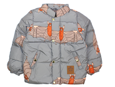 Mini Rodini puffy winter jacket bat gray