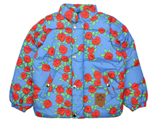 Mini Rodini puffy winter jacket blue rose