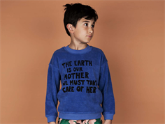 Mini Rodini Terry sweatshirt mother earth blue